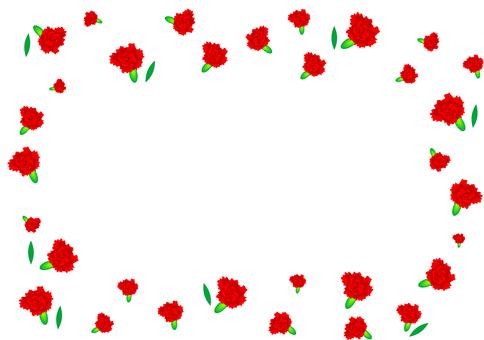 Carnation frame Mother's Day