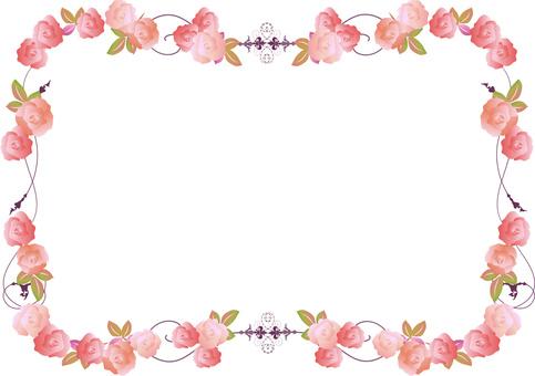 Rose Frame Pink Purple
