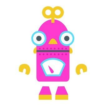 Pink Spiral spring type robot