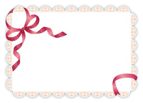 Pink ribbon and lace pattern