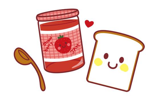 いちごジャムと食パンのキャラクター