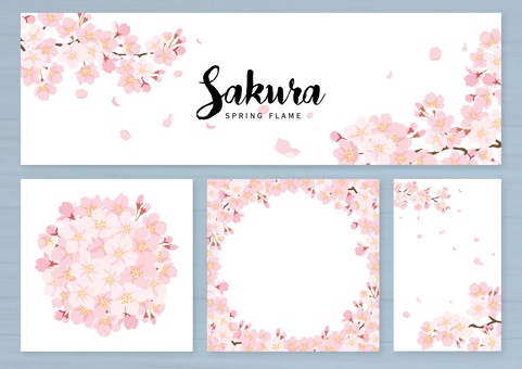 Sakura background set