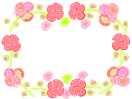 Water color flower frame