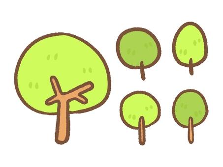 樹木のセット