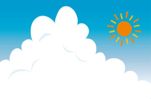 Mokumoku Inlet Cloud and Glaring Sun