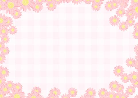 マーガレットのフレーム(ピンク)