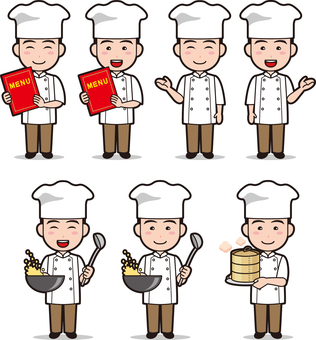 Cooking people (men and Chinese cuisine)