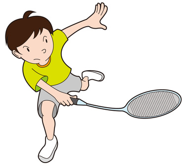 A badminton boy trying to give back