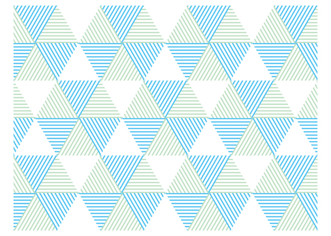 Geometric pattern triangle hexagonal blue & green
