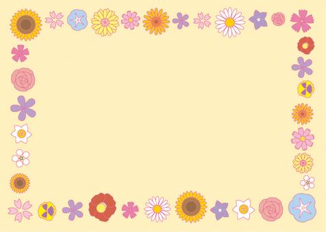 Flower frame 01 Horizontal