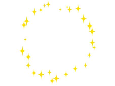 Glitter - Round Frame 02