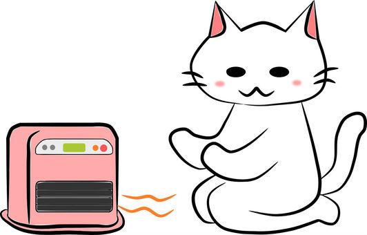 Nyanko and oil fan heater