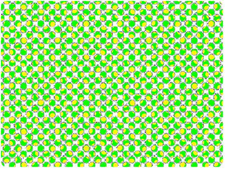Dot pattern series yellow × green × orange