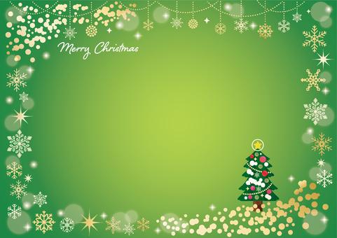 Christmas snowflake frame 13