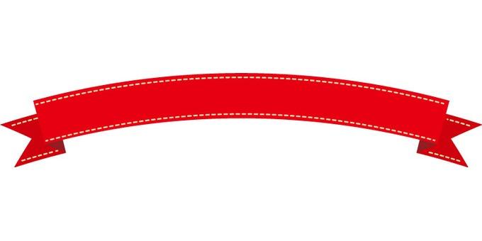 Ribbon frame large (red)