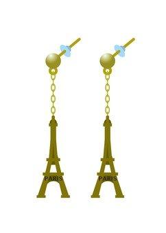 Eiffel Tower motif pierced