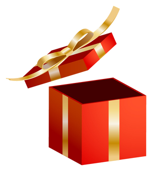 Present box (red · gold