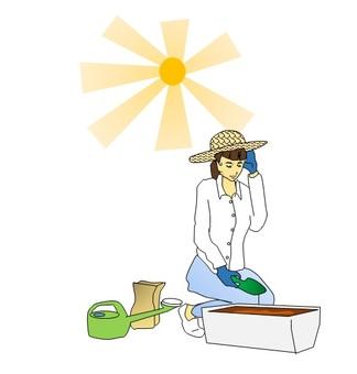 庭いじりと熱中症