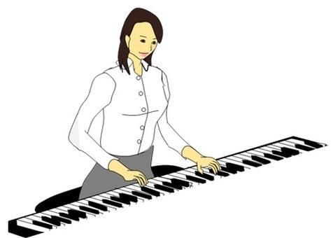 피아노를 치는 여자 2018.11 (건반)