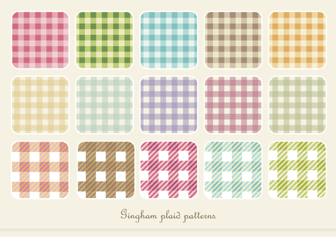 Gingham check pattern