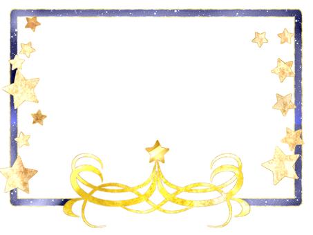 Starry sky sparkling card