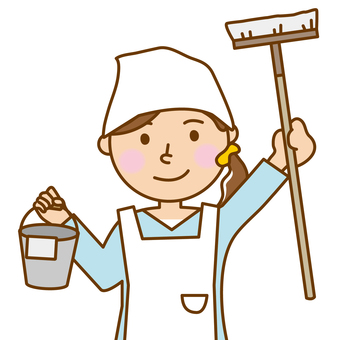 Woman's _ cleaning