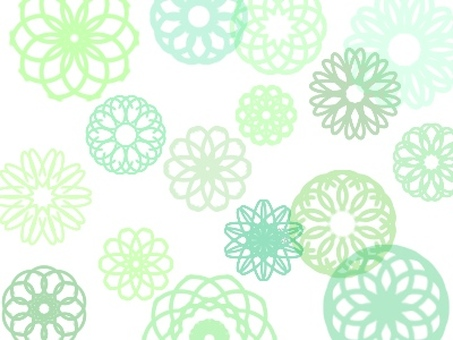 Floral pattern wallpaper (green florets)