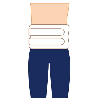Image of back pain corset