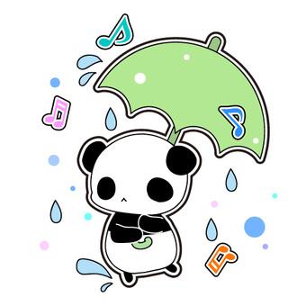 Rainy day · Pandas with umbrella