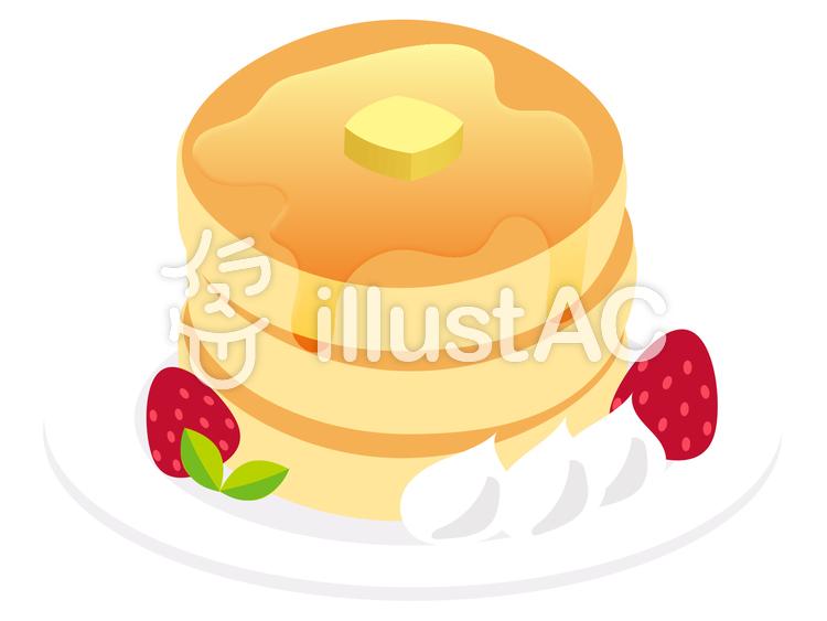 【フリーイラスト素材】ホットケーキ