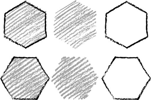 Crayon hexagon a