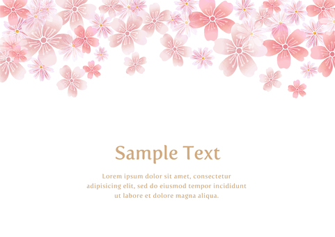 Japanese pattern material 046 Cherry background