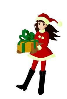 女圣诞老人和礼物盒1