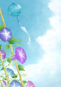 나팔꽃과 풍경