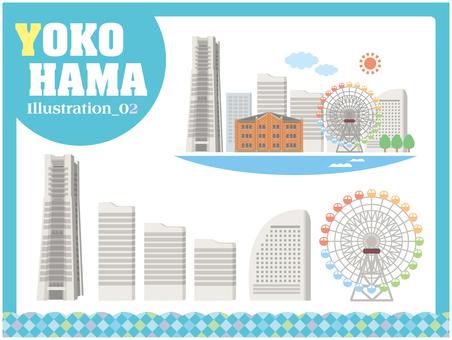 Yokohama Illustration 02 Minato Mirai 21