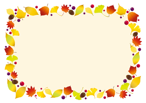 Autumn decorative frame