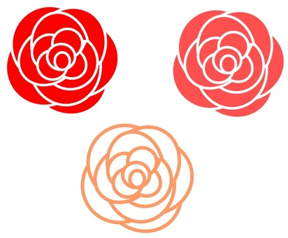 Simple rose flower 2