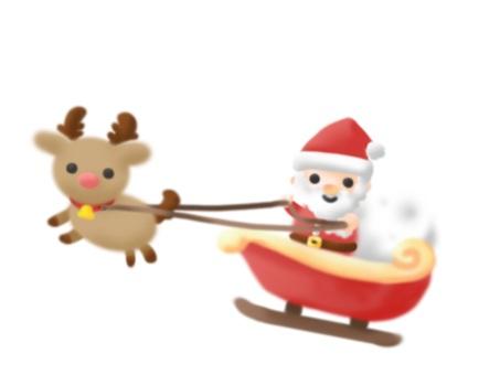 Sled Santa × reindeer (single item)