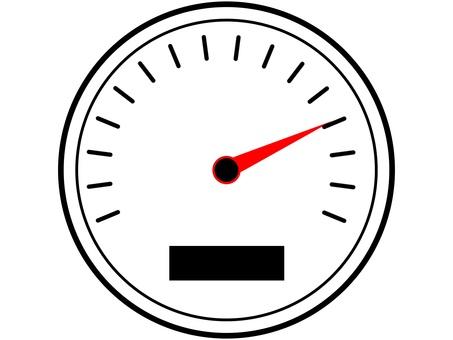 Meter speedometer