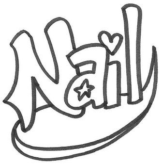 Nail logo nail logo