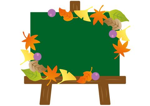 Easel blackboard autumn ②