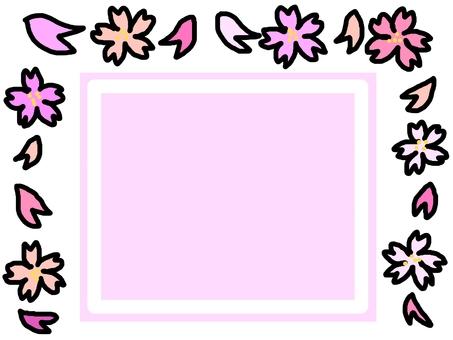 벚꽃 꽃잎 봄 컬러 프레임