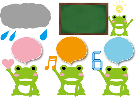 Frog illustration set