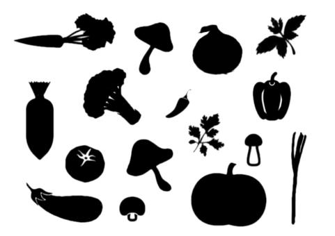 Black vegetables