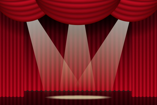 Theater stage setting curtain background 2