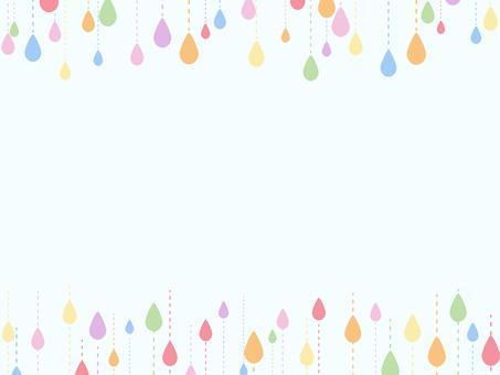 雨粒のフレーム2