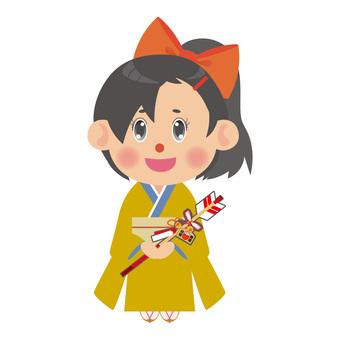 Kimono with a demon arrow Women (ponytail)