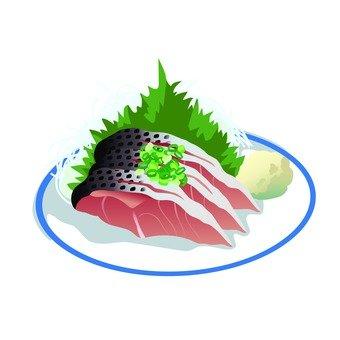 Sashimi of sardines