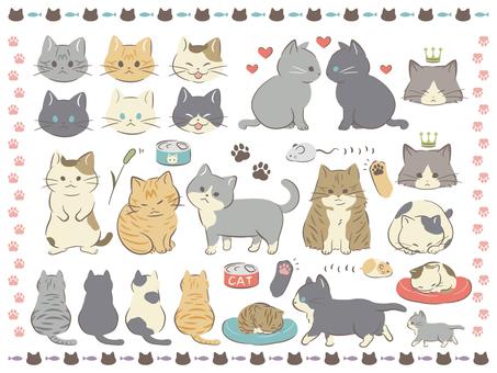 고양이 세트