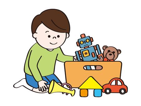 男孩清理玩具B_清理